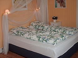 Sleep nicely in our Wonderland bed in Himmelrommet,  a room for up to 4 persons in two double beds.